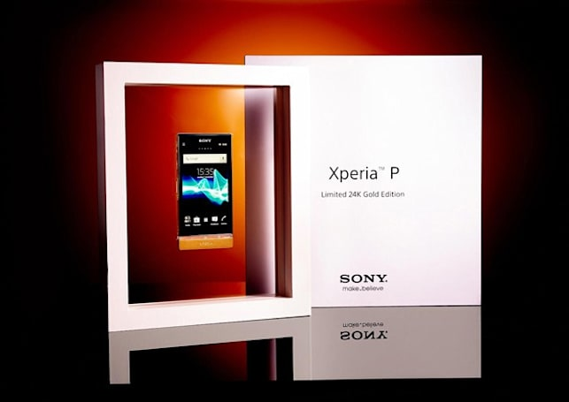 Sony offers Limited 24K Gold Edition Xperia P as competition swag