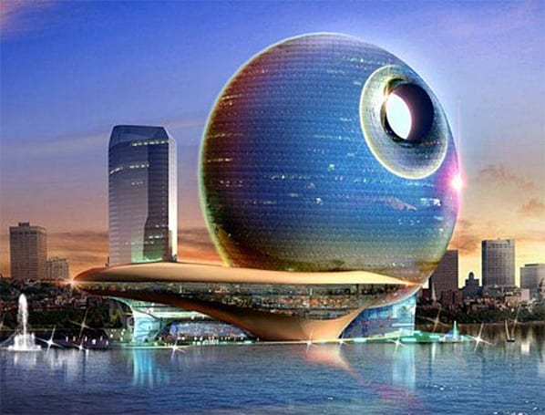 Conceptual hotel takes a note from the Death Star