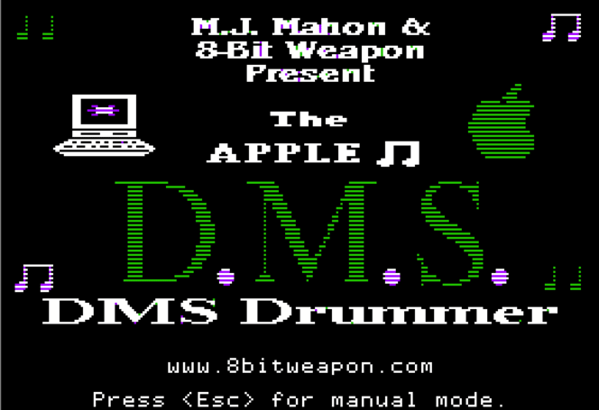 Apple II drum sequencer surfaces for chiptune composers