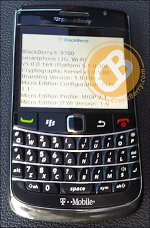 BlackBerry 9700's arranged marriage to T-Mobile leaves its mark, seen in the wild