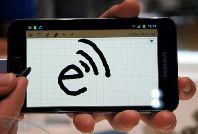 Galaxy Note ICS upgrade pushed back to Q2, adds exclusive set of stylus-ready apps (video)
