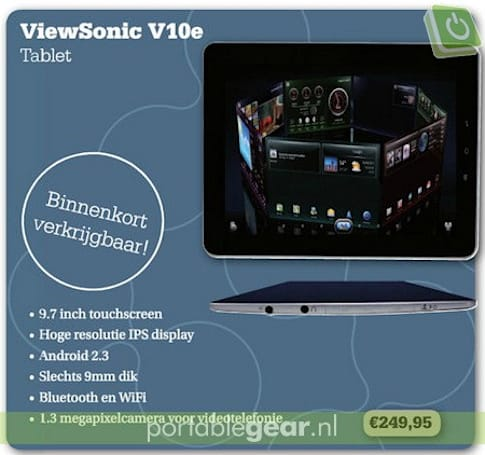 ViewSonic ViewPad 10e coming soon to UK and Netherlands?