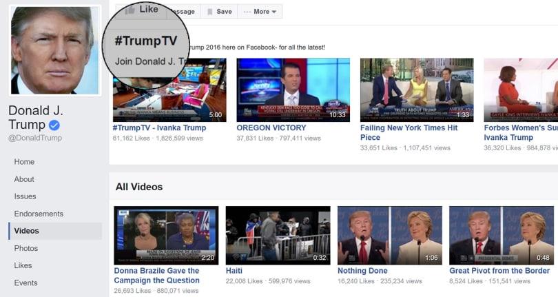 Did Trump pilot a TV service during the debate?