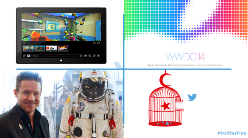 Daily Roundup: interview with Felix Baumgartner, Apple announces WWDC 2014 and more!