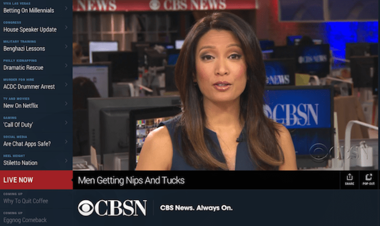 CBS takes on HuffPost Live with its own streaming news network