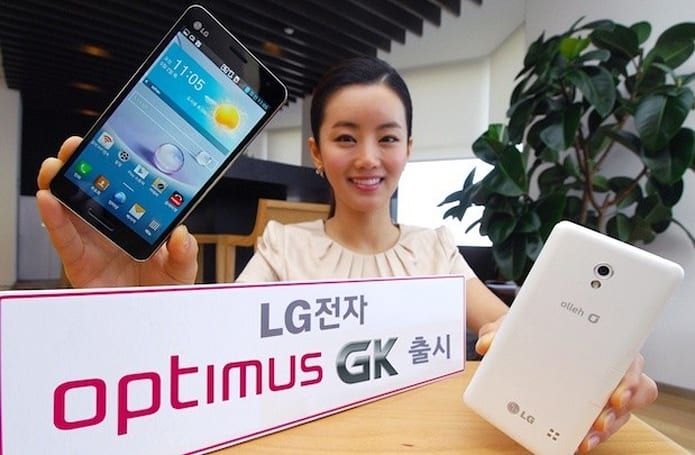 LG unveils Optimus GK in Korea, brings G Pro features in a 5-inch package