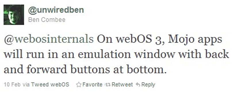 HP confirms legacy webOS apps will run on webOS 3.0, TouchPad keeps its Mojo