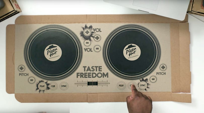 Pizza Hut delivers the world's first playable DJ pizza box