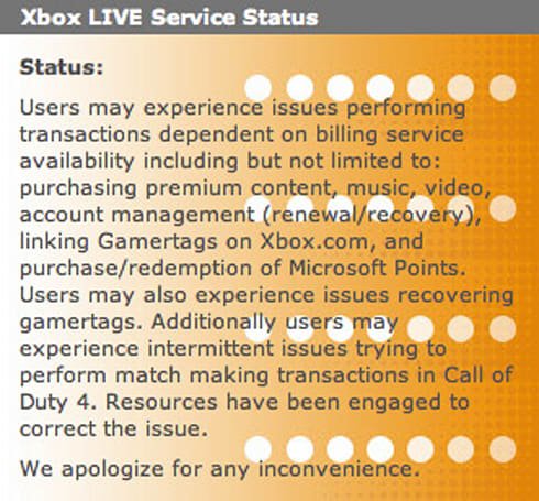 Microsoft promises to keep Xbox Live up through the holidays