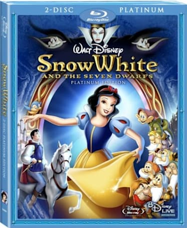 Snow White's Blu-ray debut is October 6