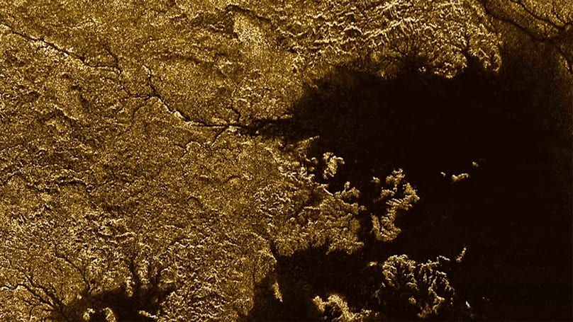 Cassini spacecraft finds flooded canyons on Saturn's moon Titan
