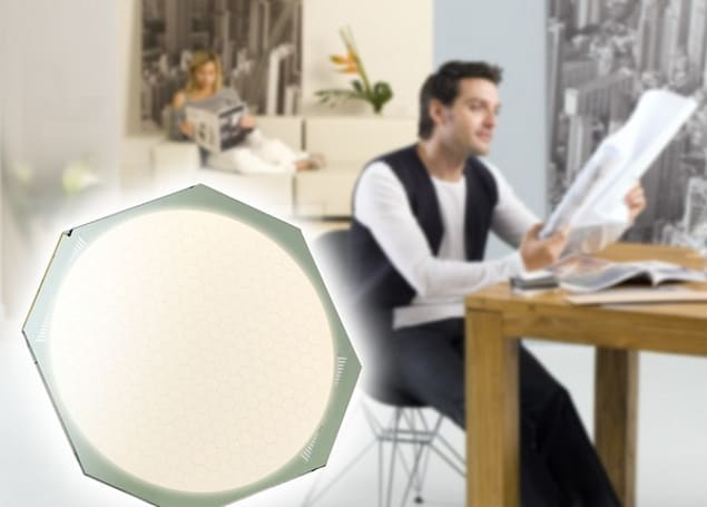 OSRAM Orbeos OLED lights are small, flat, right behind you