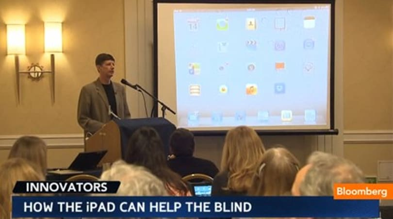 Teachers learn about using the iPad with blind students