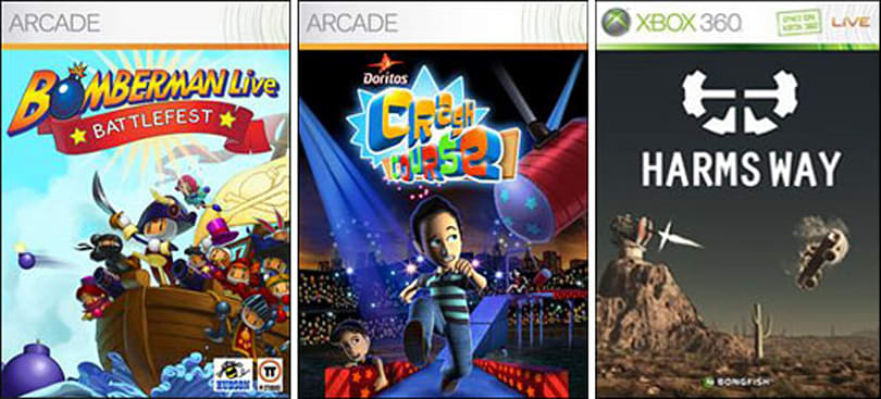Get into Harms Way, Doritos Crash Course and Bomberman Battlefest on XBLA today