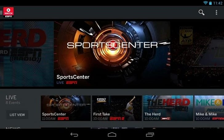 Overhauled WatchESPN app for Android brings Monday Night Football to tablet users
