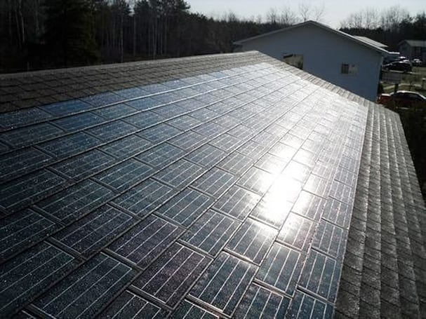 Dow's POWERHOUSE solar shingles get along with non-solar siblings, your HOA