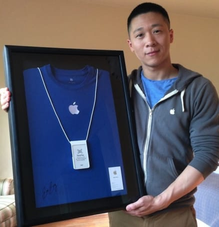 Former Apple employee Sam Sung auctioning off his business card for charity