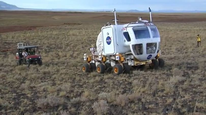 NASA's Desert RATS field tests the Lunar Electric Rover on simulated 14-day mission