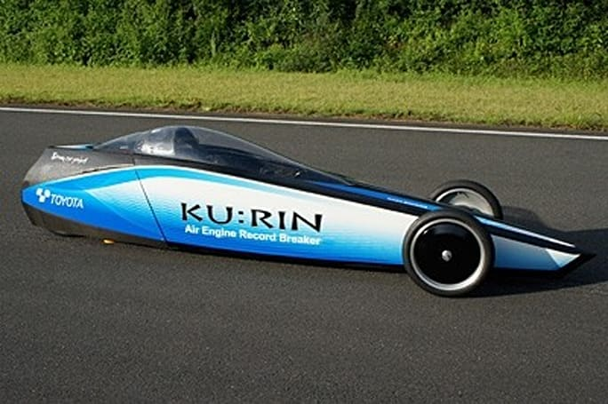Toyota breaks compressed air speed record, hits 80.3MPH with Ku:Rin