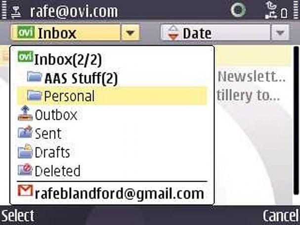 Mail on Ovi now in beta, now in zesty S60 flavor