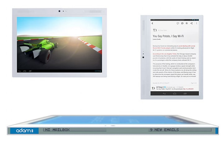 Notion Ink launches oddball tablet with edge-mounted ticker display
