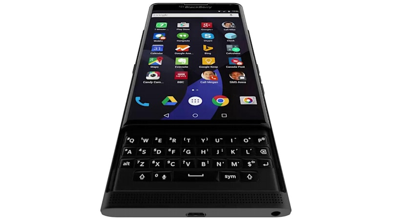 ​BlackBerry's Android-powered slider phone gets shown in motion
