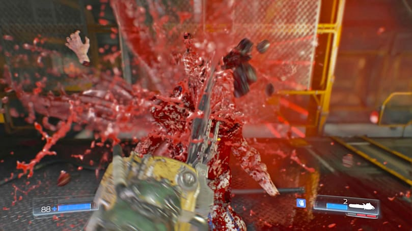 The glorious gore of 'Doom' chainsaw kills