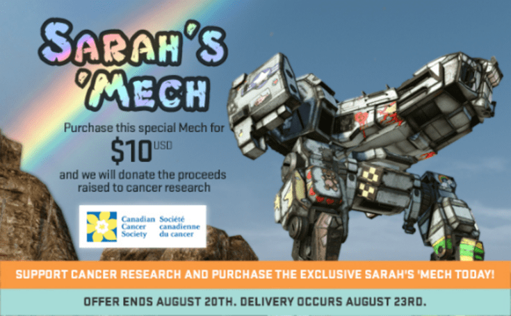 Limited edition MechWarrior Online mech benefits cancer research