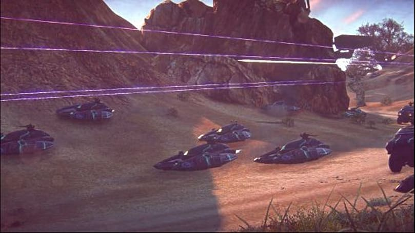 PlanetSide 2 takes a ride with Azure Twilight of the Vanu Sovereignty