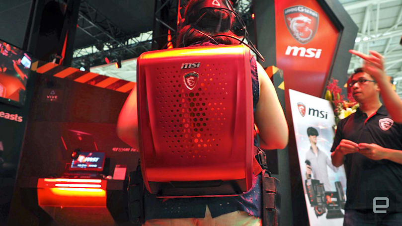 MSI's Backpack PC is an imperfect solution to VR wires