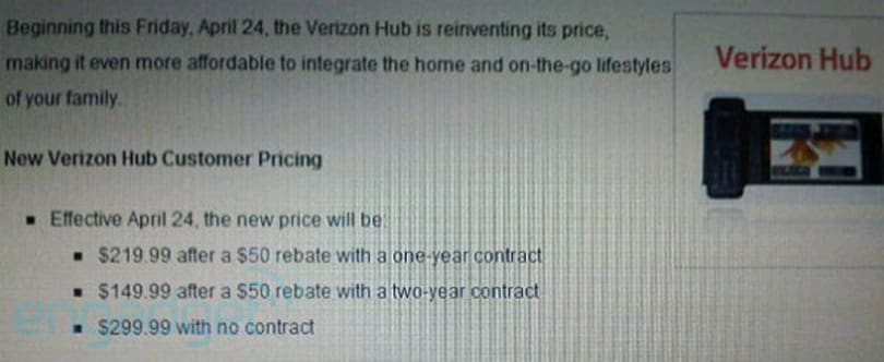 Verizon Hub getting price cut Friday -- Hub 2 drawing near?