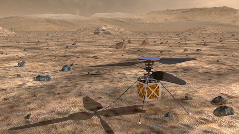 NASA wants helicopter drones to lead the way for Mars rovers