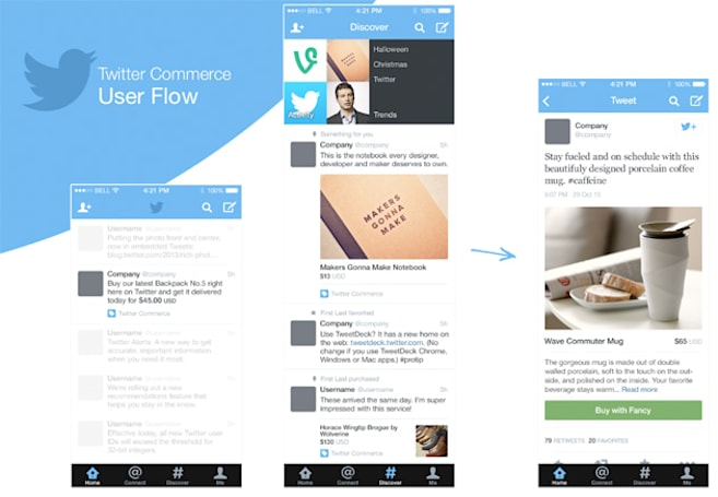 'Twitter Commerce' leak puts a buy button next to retweet and favorite
