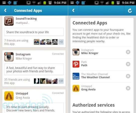 Foursquare Connected App platform lets other apps interact with check ins