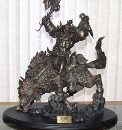 Child's Play auctioning off a Warcraft Wolfrider statue