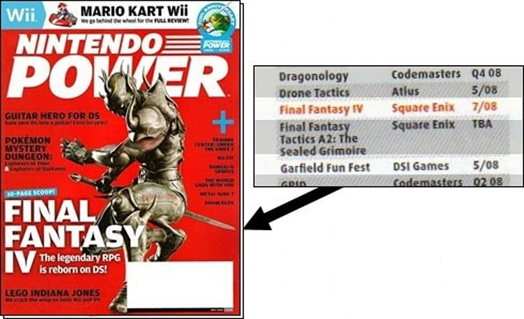 Nintendo Power: FFIV DS coming in July