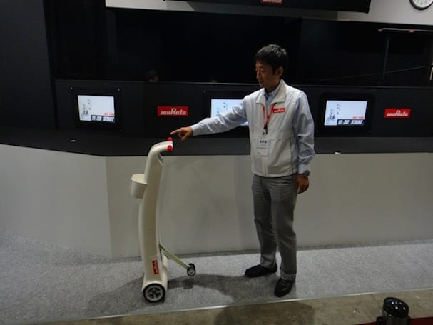 Murata Manufacturing shows off self-balancing electric walking aid