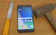 Samsung Galaxy Note 7 trifft auf Messer und Hammer