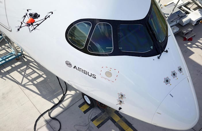 Airbus uses drones to speed up aircraft inspections