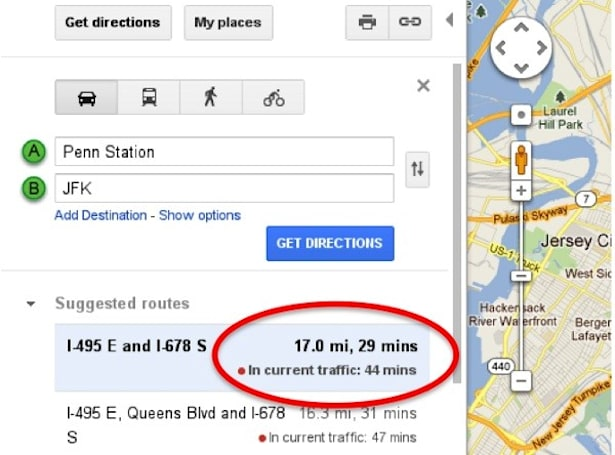 Travel in traffic estimates return to Google Maps, promises not to suck this time