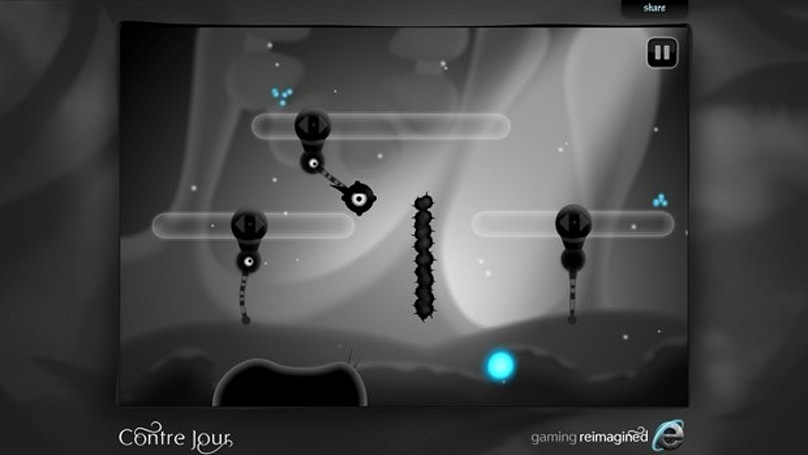 'Contre Jour' is now playable in the browser, one third of the levels require IE 10