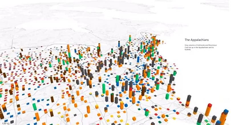 Excel's Power Maps take bar graphs to some new and mildly interesting places