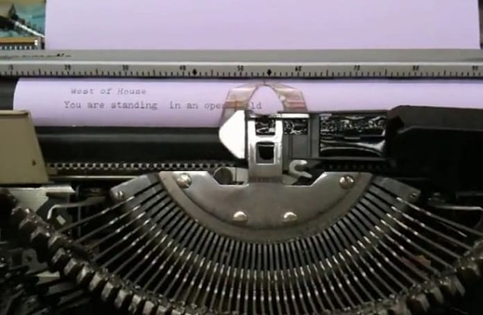 Interactive fiction meets interactive typewriter, pilfers the kingdoms of Zork (video)