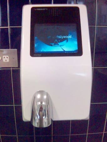 Latest sign of the apocalypse: ad-spewing hand dryers