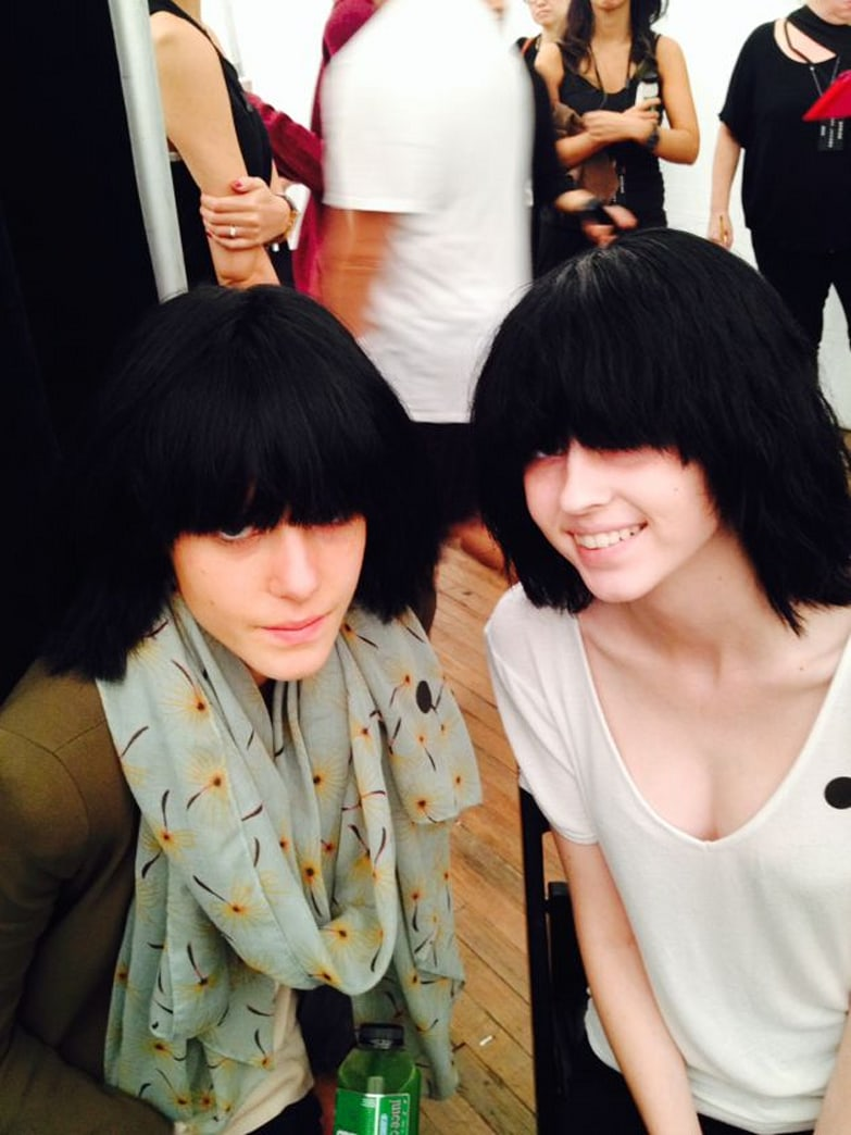 The models at Marc Jacobs wore absolutely no makeup