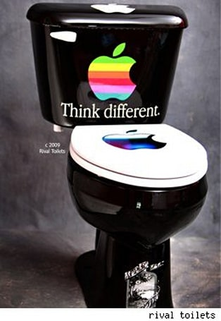Stink Different with an Apple toilet