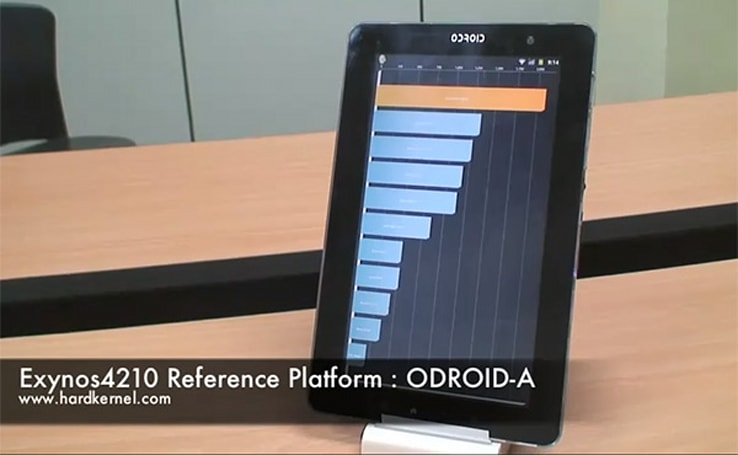 ODROID-A tablet fits 1366 x 768 res on a 10-inch screen, dual-core Exynos inside transparent shell