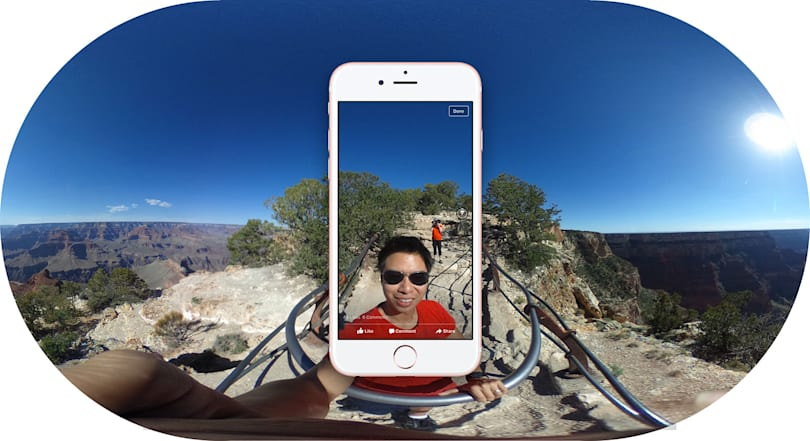 Facebook's 360-degree photos invade your News Feed today