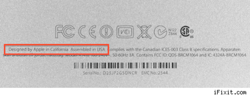 "Some new iMacs ""Assembled in USA""?"