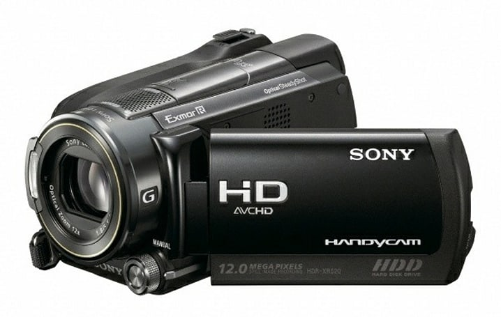 GPS-equipped Sony HDR-XR520V camcorder now available to order